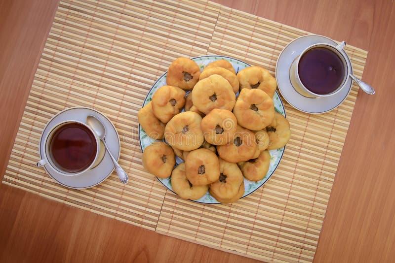 Tatar vleespasteien, peremyach royalty-vrije stock foto