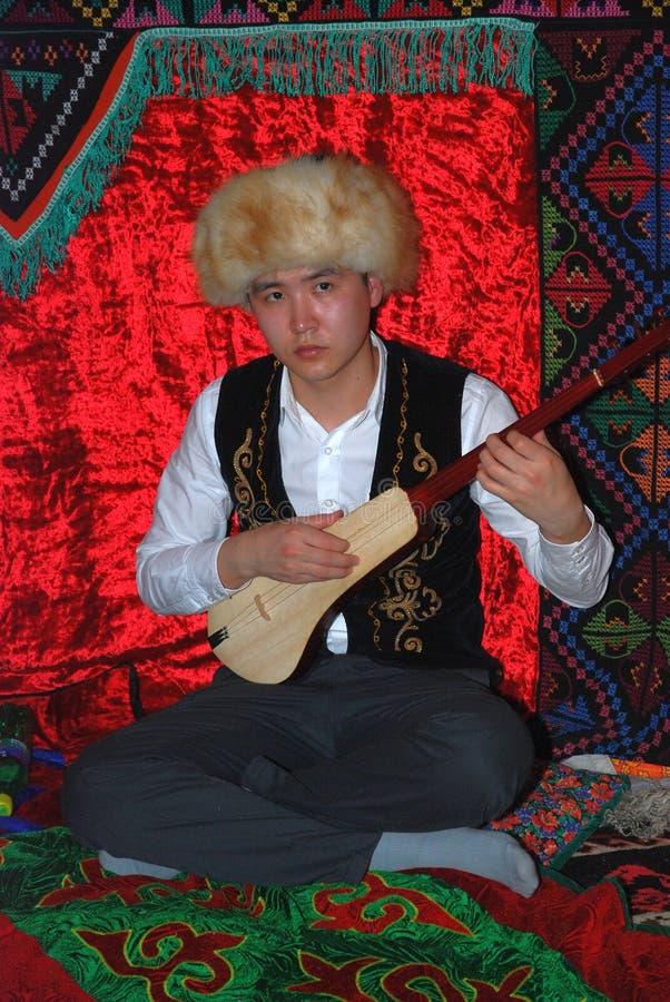 Tatarisches nationales Kostüm Teilnehmer Sabantuy lizenzfreies stockbild