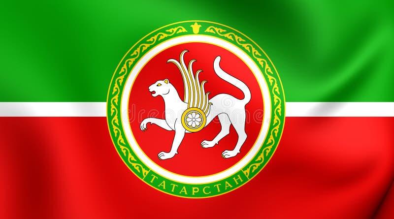 Tatarstan Flag, Russia. Republic of Tatarstan Flag, Russia. Close Up stock illustration