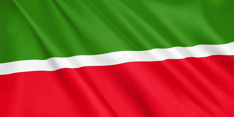 tatarstan flag waving with the wind stock illustration