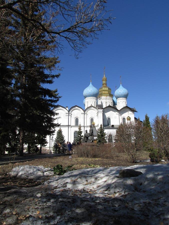 Tatarstan Kazan Kremlin, Blagoveshenskiy katedra zdjęcia royalty free