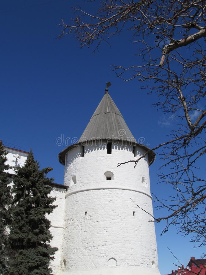 Tatarstan. The Kazan Kremlin, South-East tower. royalty free stock photo
