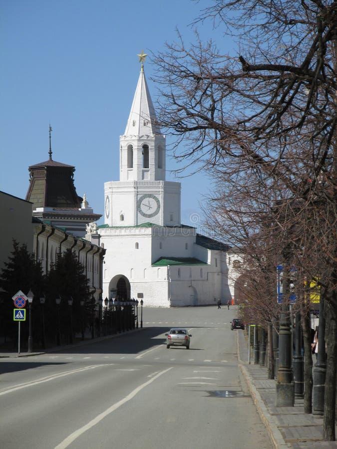 Tatarstan Piękny wierza Kazan Kremlin zdjęcia royalty free