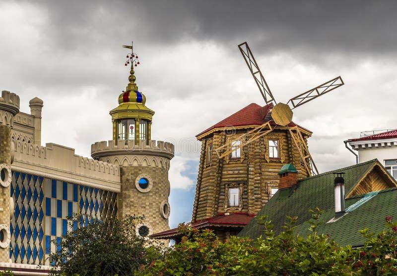 TATARSTAN RYSSLAND - JULI 12, 2015: Tatar by i staden Kazan, Tatarstan, Ryssland royaltyfri fotografi