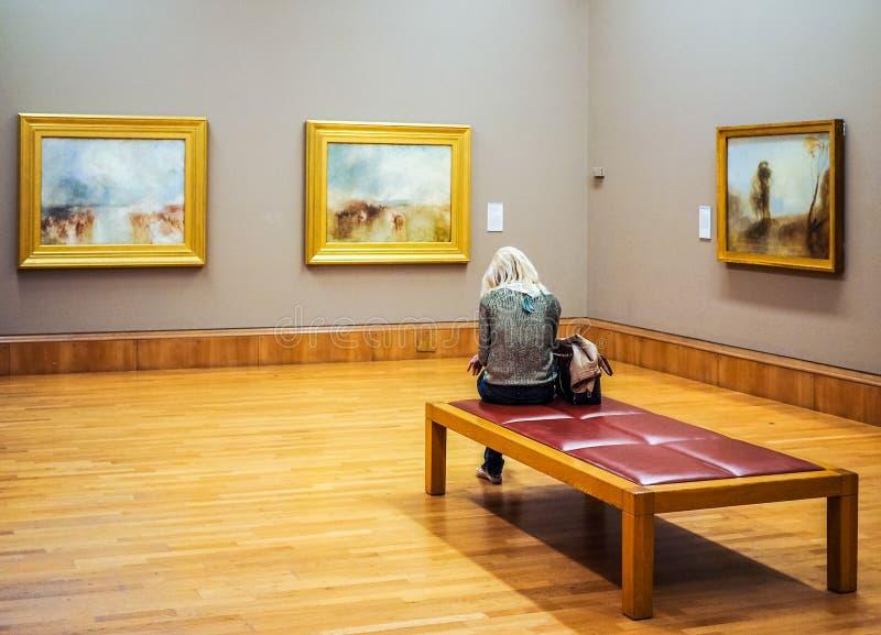 Tate Britain em Londres (hdr) foto de stock