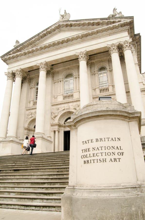 Tate Britain Portico imagem de stock royalty free