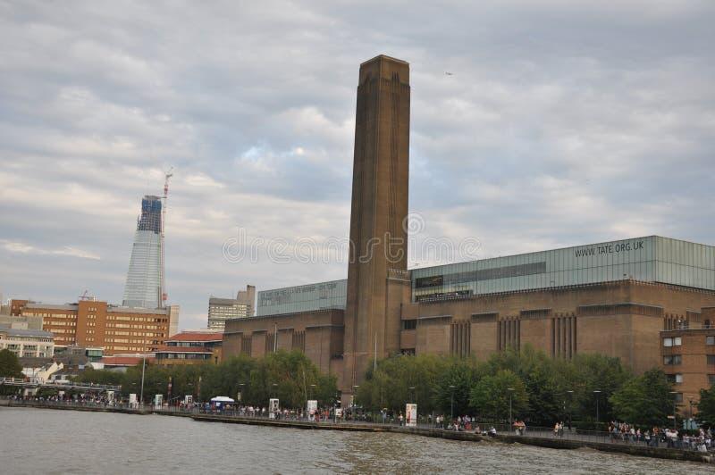 Tate Modern Art Gallery in Londen, Engeland stock foto's