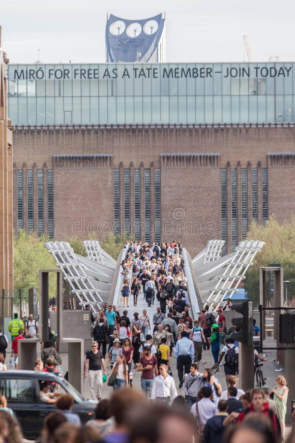 Tate Modern Art Gallery London stock foto's