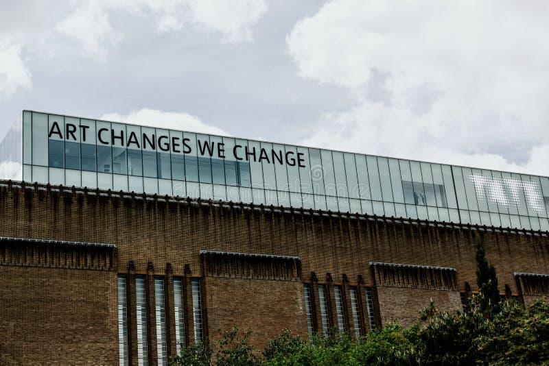 Tate Modern galeria sztuki, Londyn, Anglia zdjęcie stock