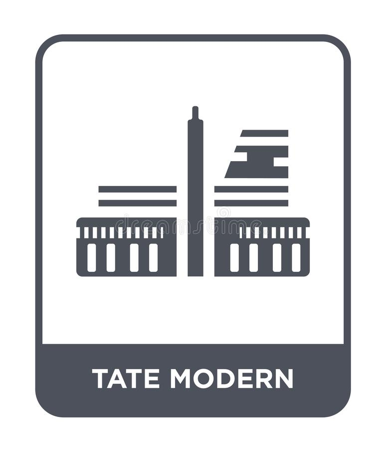 Tate modern icon in trendy design style. tate modern icon isolated on white background. tate modern vector icon simple and modern. Flat symbol for web site vector illustration