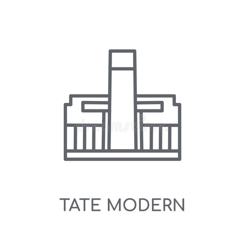 Tate modern lineair pictogram Modern modern het embleemconcept van overzichtstate stock illustratie