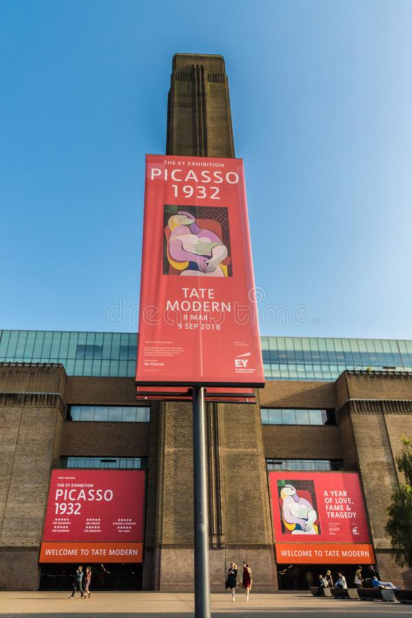 Tate Modern Londen royalty-vrije stock fotografie