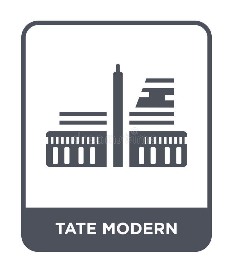 tate modern pictogram in in ontwerpstijl tate modern pictogram dat op witte achtergrond wordt geïsoleerd tate modern vector eenvo vector illustratie