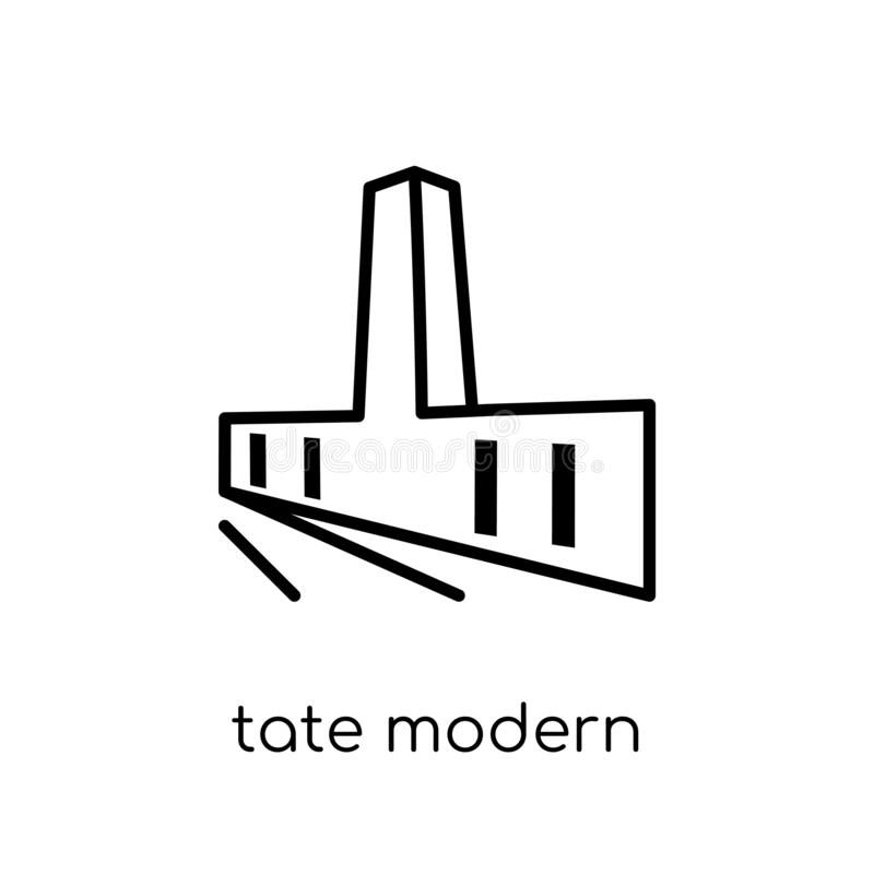 Tate modern pictogram van Museuminzameling royalty-vrije illustratie