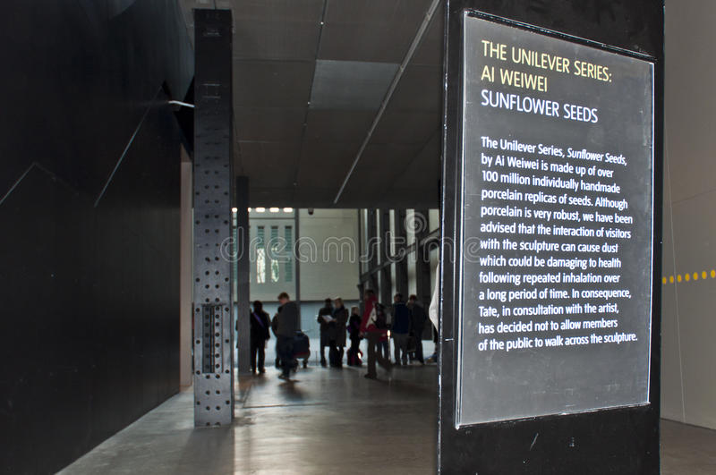 Download Tate Modern Sign About Artist Ai Weiwei's Work. Editorial Photo - Image: 16682746