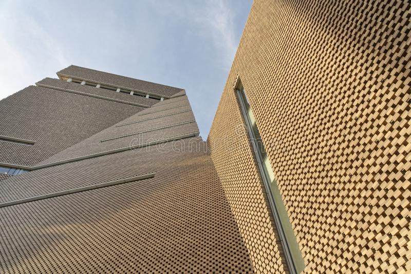 Tate Modern Tavatnik Building ? Londres structures uniques image stock