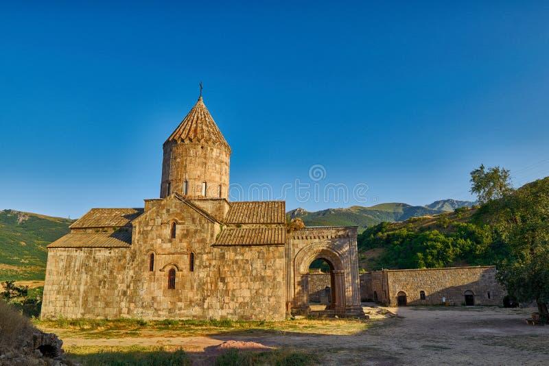 Tatev kloster i Armenien arkivbild
