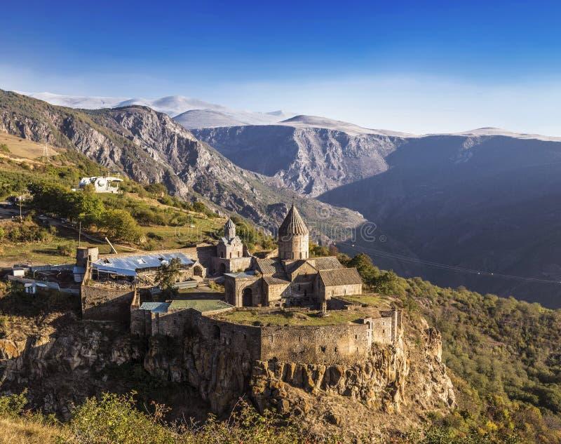 Tatev ormianina monasteru kompleks opóźneni wcześni X wieki w Syunik regionie zdjęcia stock