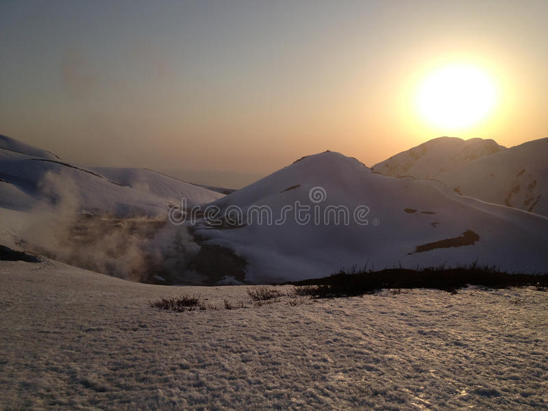 Tateyama Kurobe Alpejska trasa (Japonia Alps) obraz stock