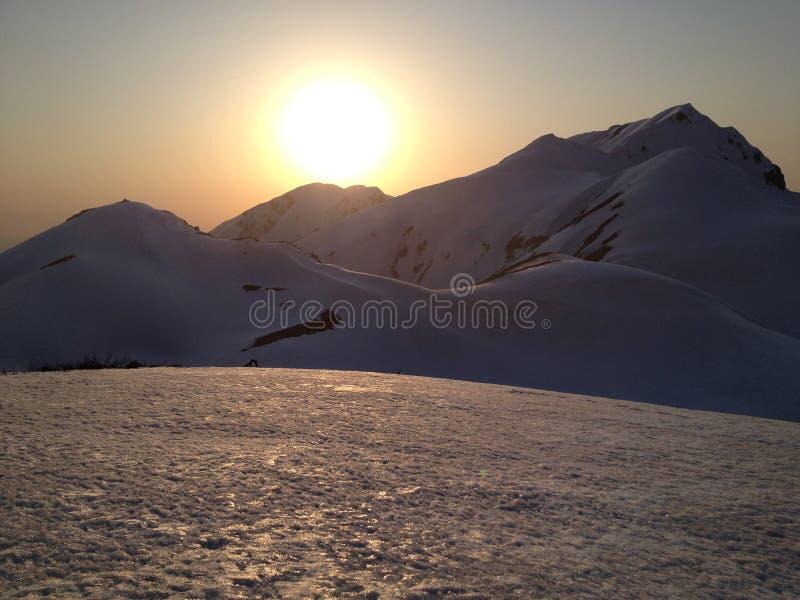 Tateyama Kurobe Alpejska trasa, Japonia (Japonia Alps) obrazy stock