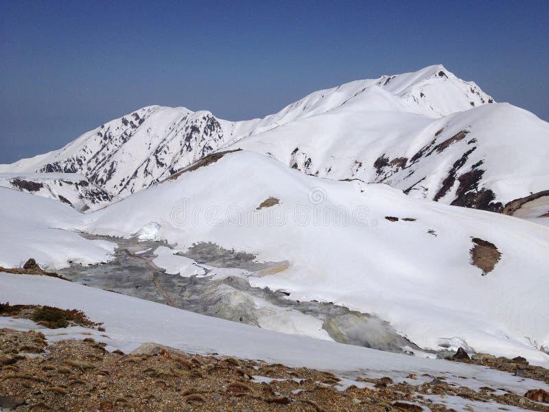 Tateyama Kurobe Alpejska trasa, Toyama, Japonia (Japonia Alps) fotografia stock