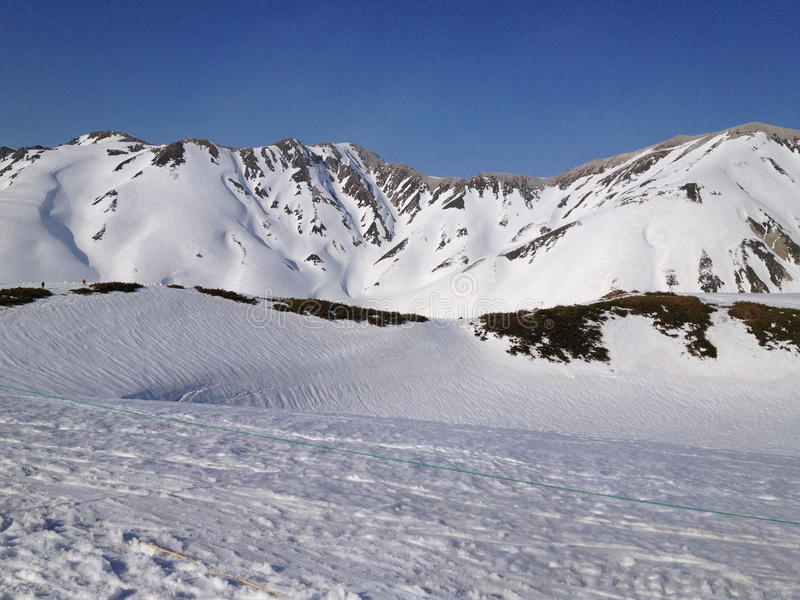 Tateyama Kurobe Alpejska trasa, Toyama Japonia (Japonia Alps) obraz royalty free