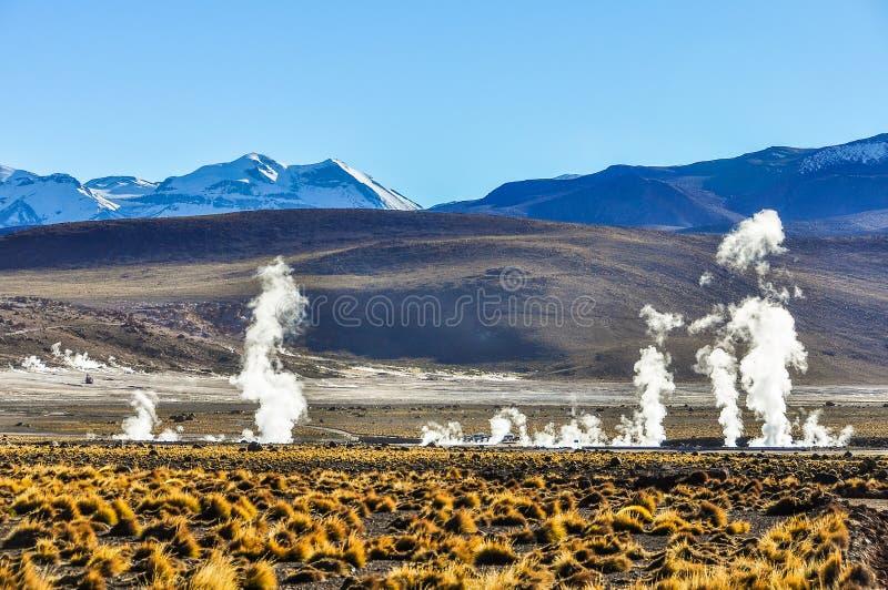 Tatio-Geysire in Atacama-Wüste, Chile lizenzfreie stockfotos