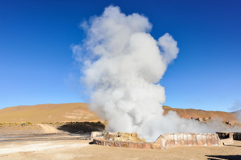 Tatio-Geysire in Atacama-Wüste, Chile lizenzfreie stockfotografie