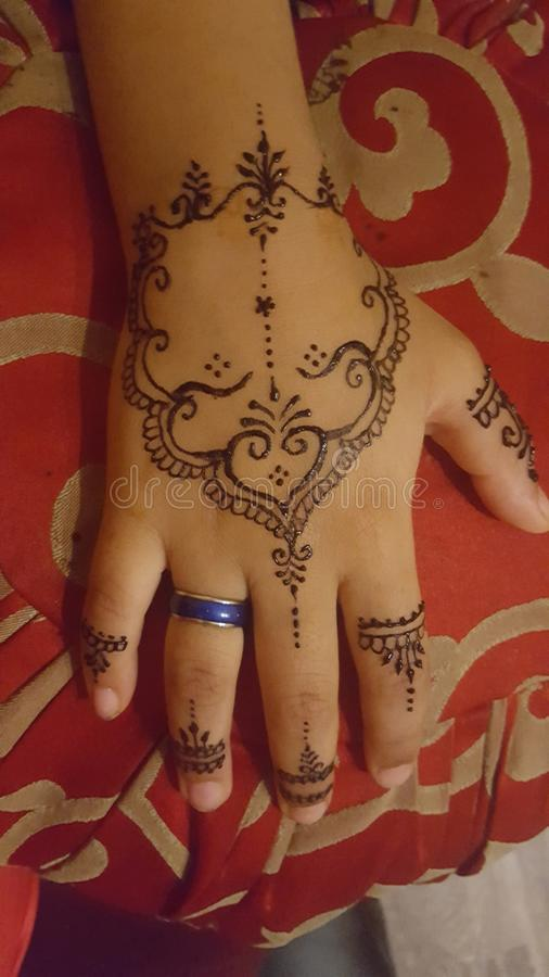 Tatoeages van Henna royalty-vrije stock afbeeldingen
