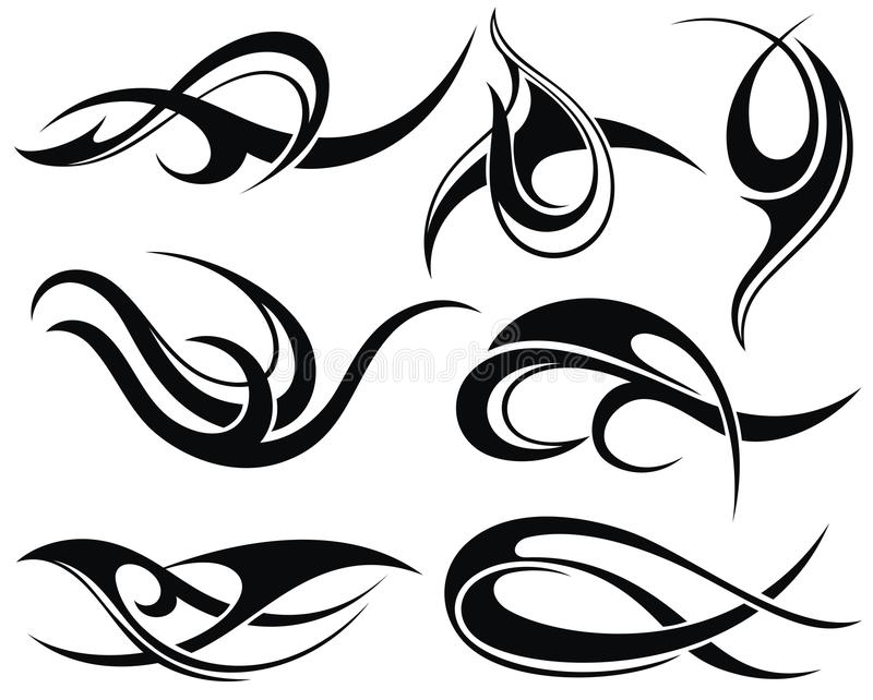 Tatoegering Design royalty-vrije illustratie