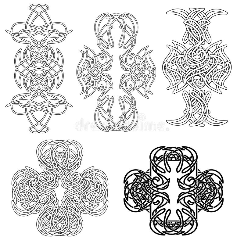 Tatoo celtique réglé illustration stock
