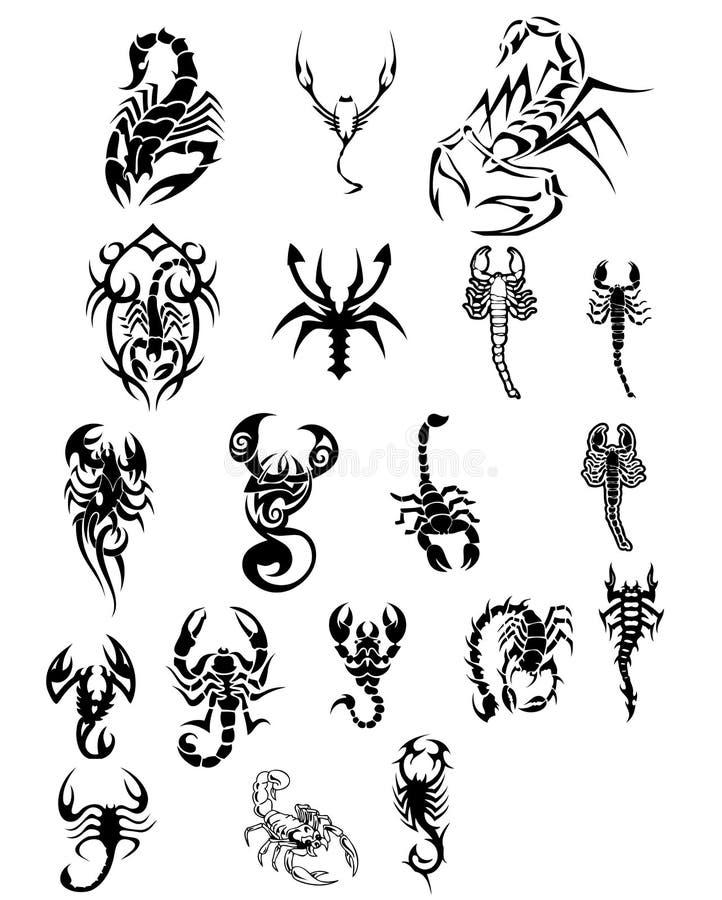Tatoo degli scorpioni illustrazione vettoriale