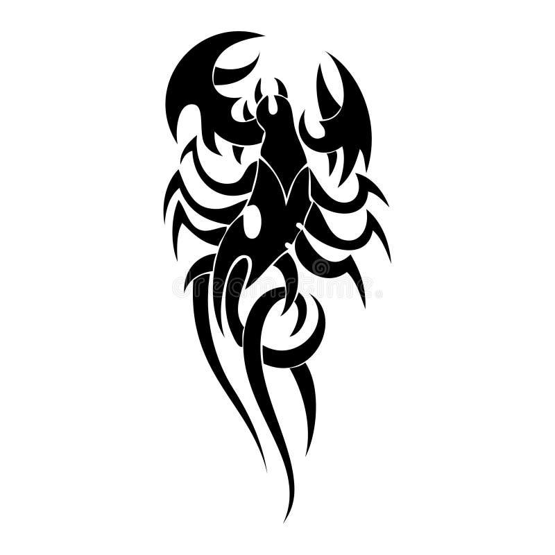Tatoo del escorpión stock de ilustración