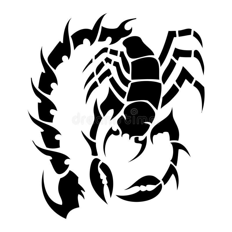 Tatoo dello scorpione illustrazione vettoriale