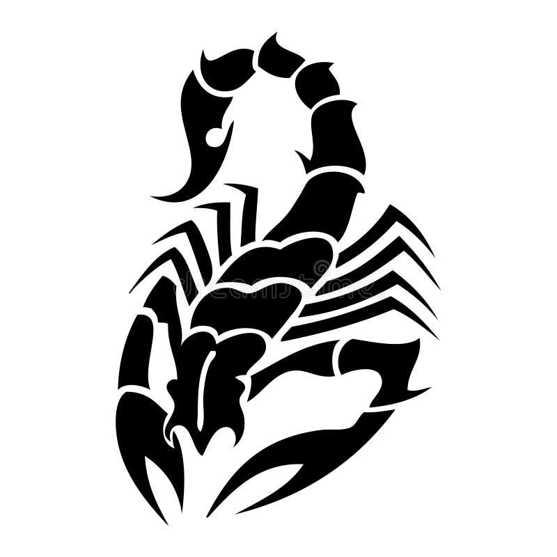 Tatoo dello scorpione illustrazione di stock