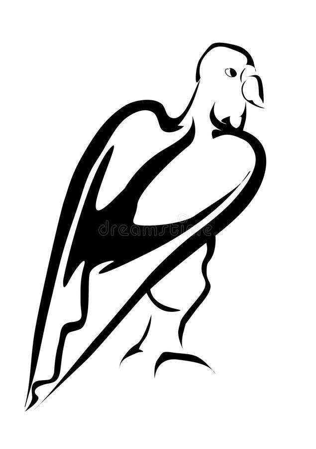 tatoo eagl иллюстрация вектора