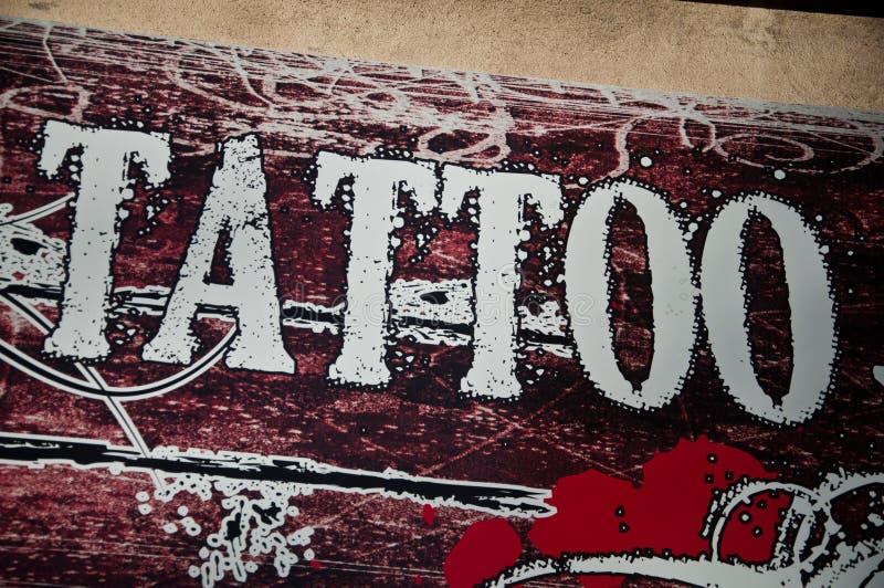 Tatoo shop royalty free stock photography