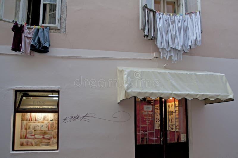 Tatoo-Shop Zadar stockfotos