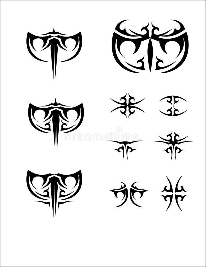 Tatoo uppsättning royaltyfri bild