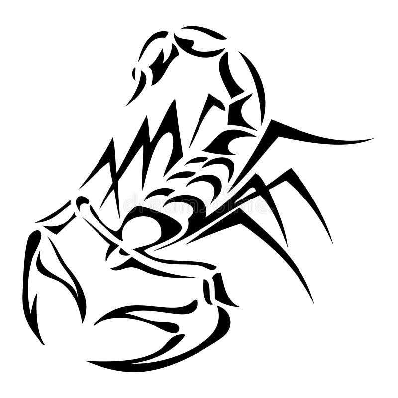 Tatoo van de schorpioen vector illustratie