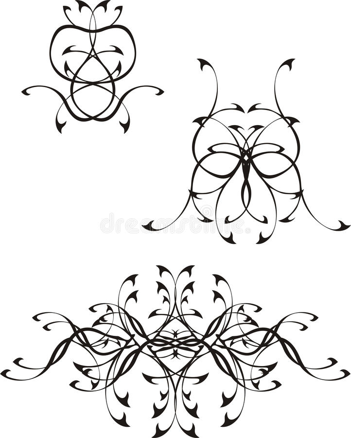 Download Tatoo Vector black 2 stock vector. Image of plan, smartly - 10547083