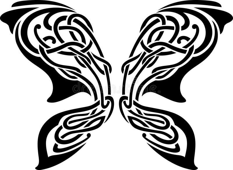 Tatouage abstrait de guindineau illustration de vecteur