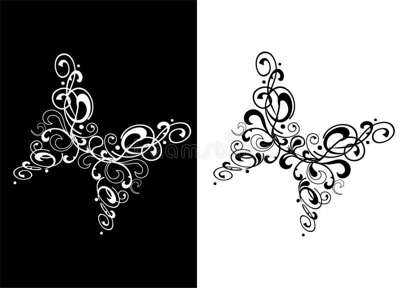 tatouage abstrait de papillon noir et blanc illustration de vecteur illustration du dessin. Black Bedroom Furniture Sets. Home Design Ideas
