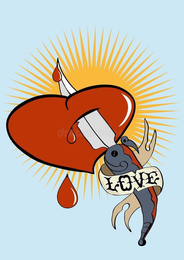 Tatouage d'amour illustration de vecteur