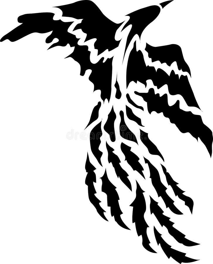 Tatouage d'oiseau de Phoenix images stock