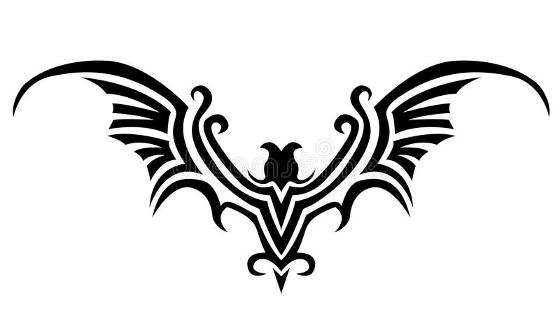 Tatouage de 'bat' illustration stock