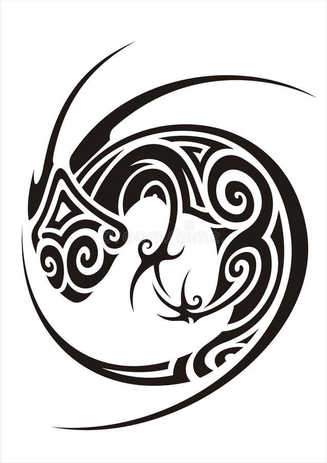 Tatouage de caméléon illustration libre de droits