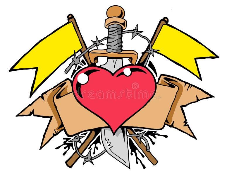 Tatouage de coeur illustration libre de droits