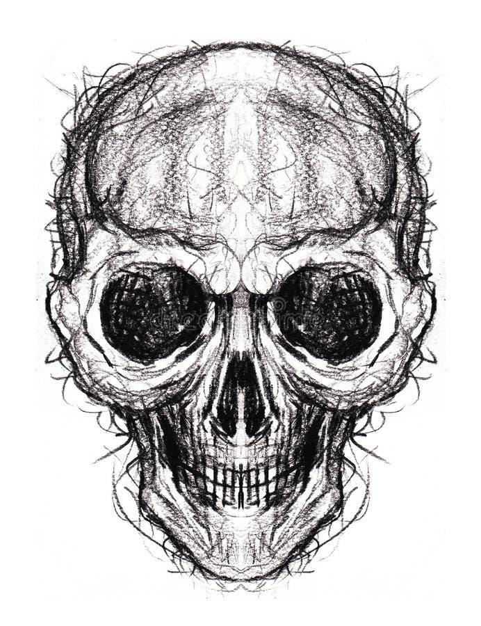 Tatouage de crâne de croquis d'art illustration libre de droits