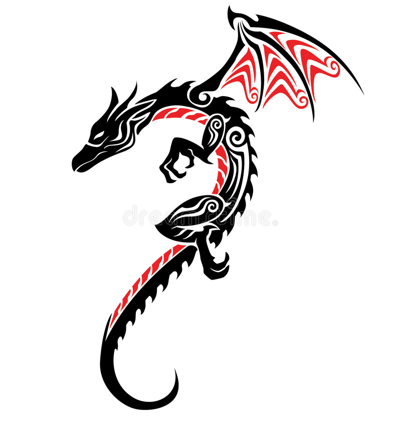 tatouage de dragon illustration libre de droits